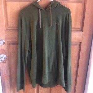 Green North Face Polar-tech Hooded Sweatshirt